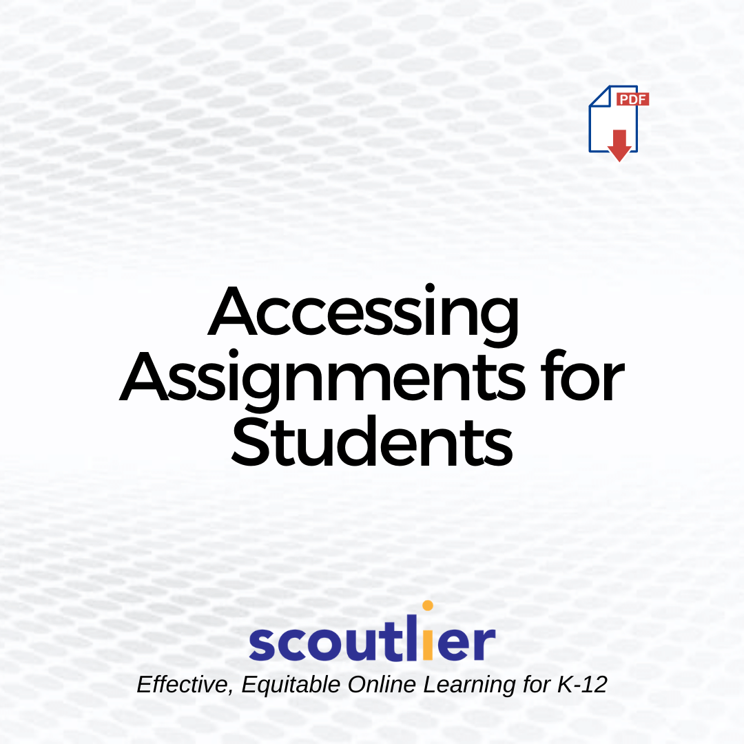 Opens Accessing Assignments for Students PDF