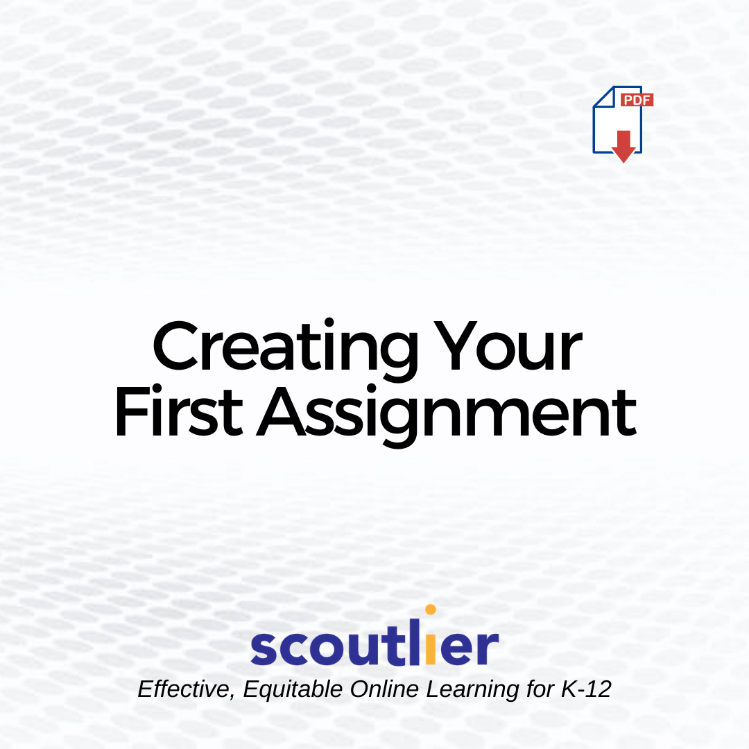 Opens Creating Your First Assignment PDF