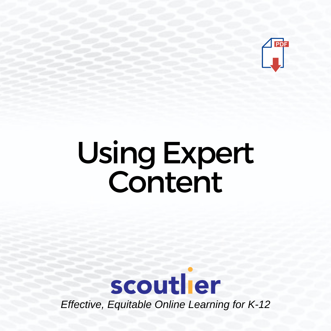 """Opens """"Using Expert Content"""" PDF"""