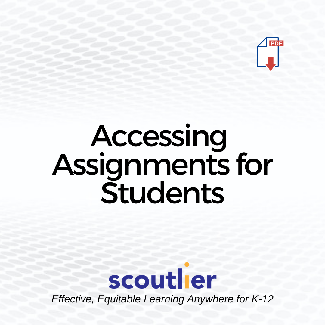 "Open ""Accessing Assignments for Students"" PDF"