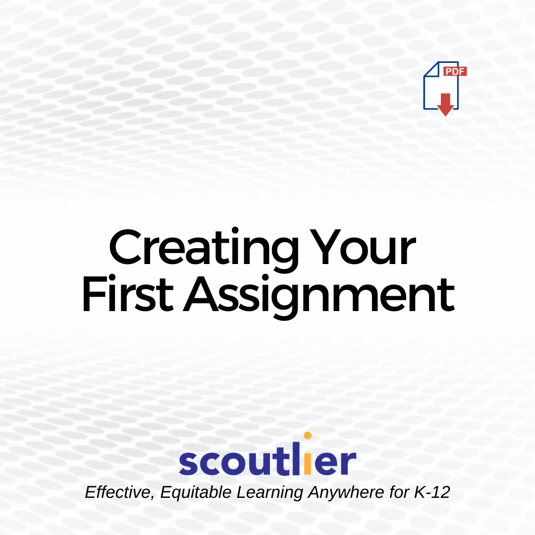 "Open ""Creating Your First Assignment"" PDF"