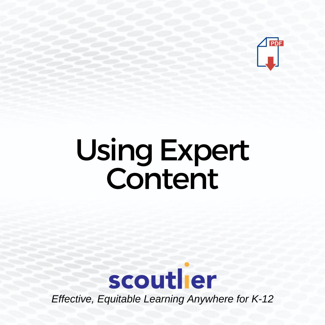 "Open ""Using Expert Content"" PDF"